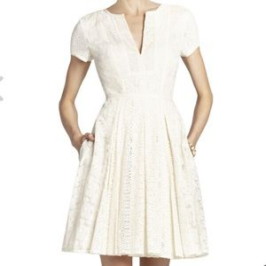 BCBG Maxazria Kirsten Patchwork Lace Shirt Dress